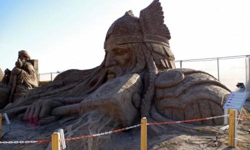 Zdjęcie TURCJA / Turecka Riwiera / Antalya /  - rzeźby z piasku -