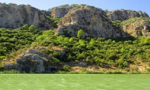 TURCJA / Wybrzeże Egejskie / okolice Kaunos / Zielone wody rzeki Dalyan