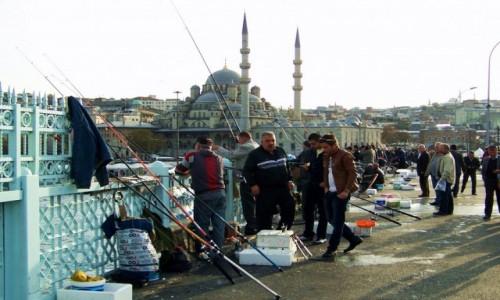 Zdjęcie TURCJA / Stambuł / Stambuł / Wędkowanie na Moście Galata