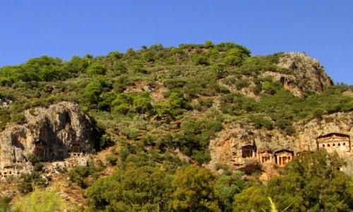Zdjęcie TURCJA / Wybrzeże Egejskie / okolice Kaunos / Grobowce kute w skale