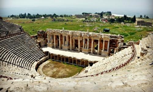 Zdjecie TURCJA / - / Starożytny Hierapolis / Starożytny teatr