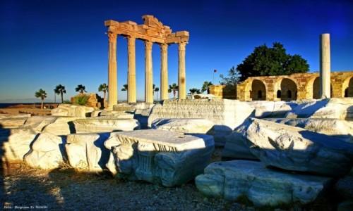 Zdjecie TURCJA / Wybrzeża Morza Śródziemnego, / Side / Antyczna część miasta