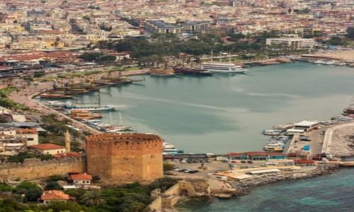 Zdjęcie TURCJA / Anatolia / Alanya / port w Alanii