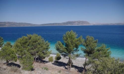 Zdjecie TURCJA / Turcja / Salda Gölü / Głęboki błękit jeziora w Turcji