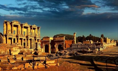 Zdjecie TURCJA /  Azji Mniejszej / Efez / Ruiny Efezu.