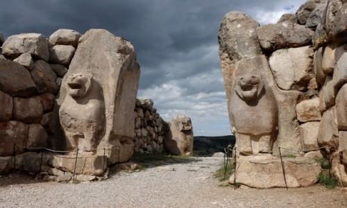 TURCJA / środkowa Anatolia / Hattusa / Brama Lwów w dawnej stolicy Hetytów