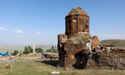 Zdjecie TURCJA / wschodnia Anatolia / Kozluca / Ruiny ormiańskiego kościółka we wsi Kozluca