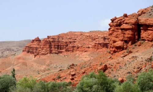 Zdjecie TURCJA / wschodnia Anatolia / Kagizman / Czerwone skały