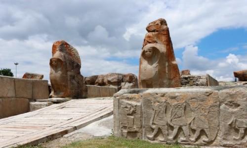 Zdjecie TURCJA / środkowa Anatolia / Alacahoyuk / Brama Sfinksów z czasów hetyckich
