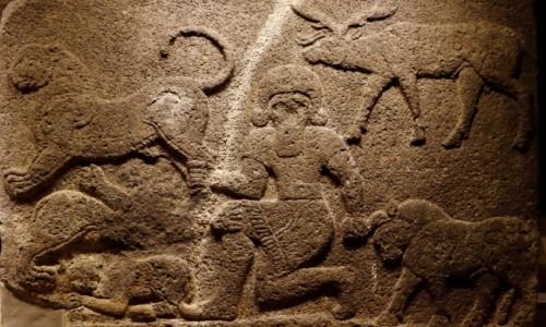 Zdjecie TURCJA / środkowa Anatolia / Ankara / Ortostat z Gilgameszem
