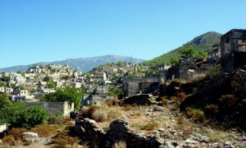 Zdjęcie TURCJA / Turcja Egejska / Fethiye / miasto duchów- kayakoy
