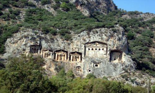 Zdjęcie TURCJA / Turcja Egejska / Dalyan / grobowce władców likijskich