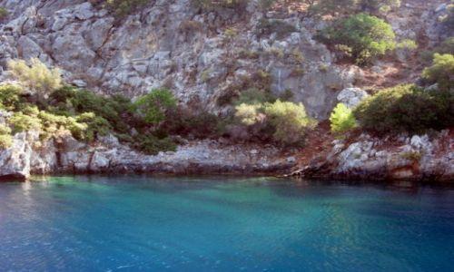 Zdjecie TURCJA / Turcja Egejska / Fethiye / kolorowa zatoczka