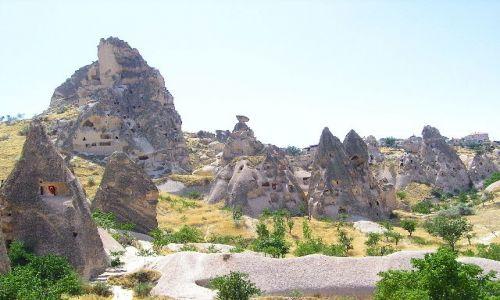 Zdjecie TURCJA / Kapadocja / brak / Wydrążone skały kapadocji