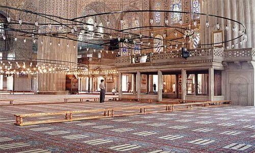 Zdjecie TURCJA / brak / Istambul / Wewnątrz Błękitnego Meczetu