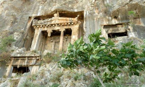 TURCJA / - / Fethiya / Fethiya - grobowiec Amyntasa z IV w. p.n.e.