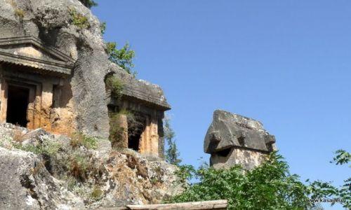 TURCJA / - / Fethiya / Fethiya - kamienne grobowce
