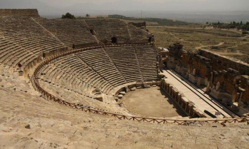 Zdjecie TURCJA / płd-zach Turcja / Hierapolis / Amfiteatr w Hierapolis