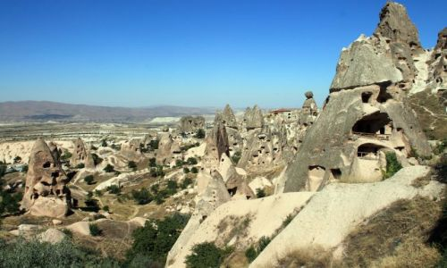 Zdjecie TURCJA / Wyżynia   Anatolijska / Parku Narodowego Göreme. / krajobraz w Kapadocji