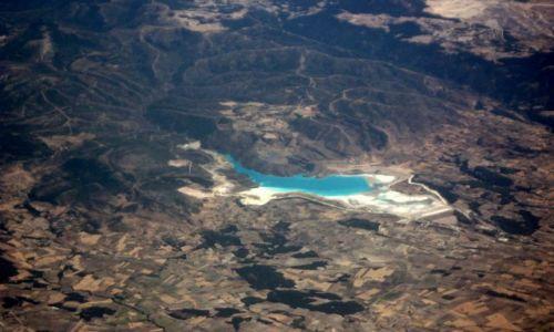 Zdjecie TURCJA / - / nad Turcją, wykonane z samolotu / KONKURS Cuda Natury Lazurowy to kolor radości.