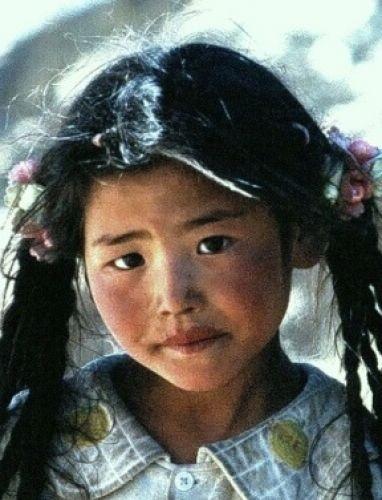 Zdjęcia: Shigatse, Tybet , Dziewczynka , TYBET