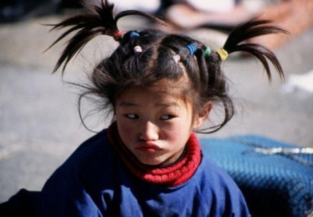 Zdjęcia: Lhasa, Tybet , Dziewczynka , TYBET