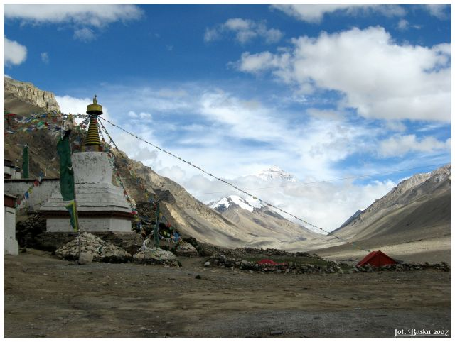 Zdjęcia: okolice Everest Base Camp, Himalaje, Klasztor Rongbuk, TYBET
