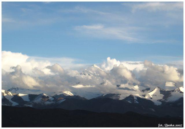 Zdjęcia: punkt widokowy , Himalaje, Przed zachodem słońca, TYBET