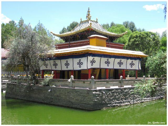 Zdjęcia: Lhasa - Norbulinka, Tybet, W ogrodzie, TYBET