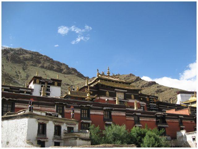 Zdj�cia: Shigatse, Tybet po�udniowy, Dachy Tashilhunpo, TYBET