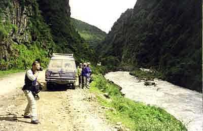 Zdjęcia: Rwąca rzeka w Tybecie, TYBET