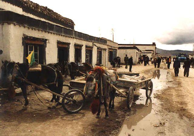 Zdjęcia: Xigaze, osada w drodze z Xigaze do granicy z Nepalem, TYBET