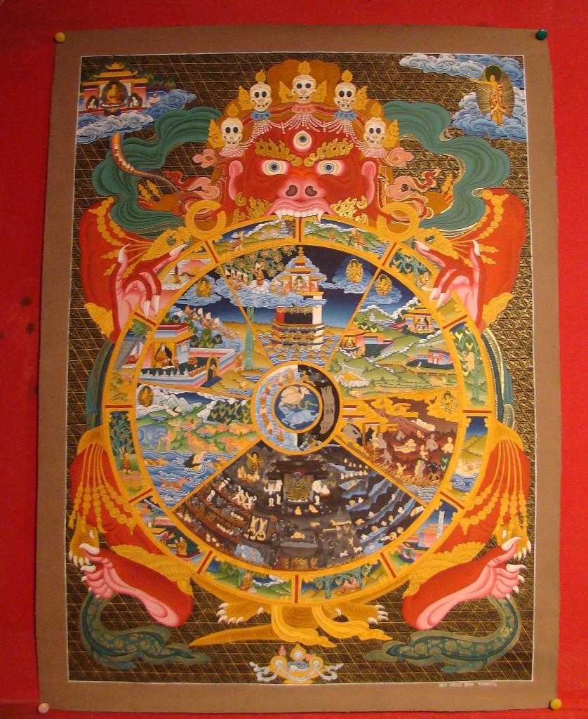 Zdjęcia: Klasztor Sera, Tybetański Region Autonomiczny, Koło życia, TYBET