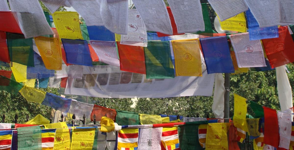 Zdjęcia: Lhasa, Tybetański Region Autonomiczny, Chorągiewki modlitewne, TYBET