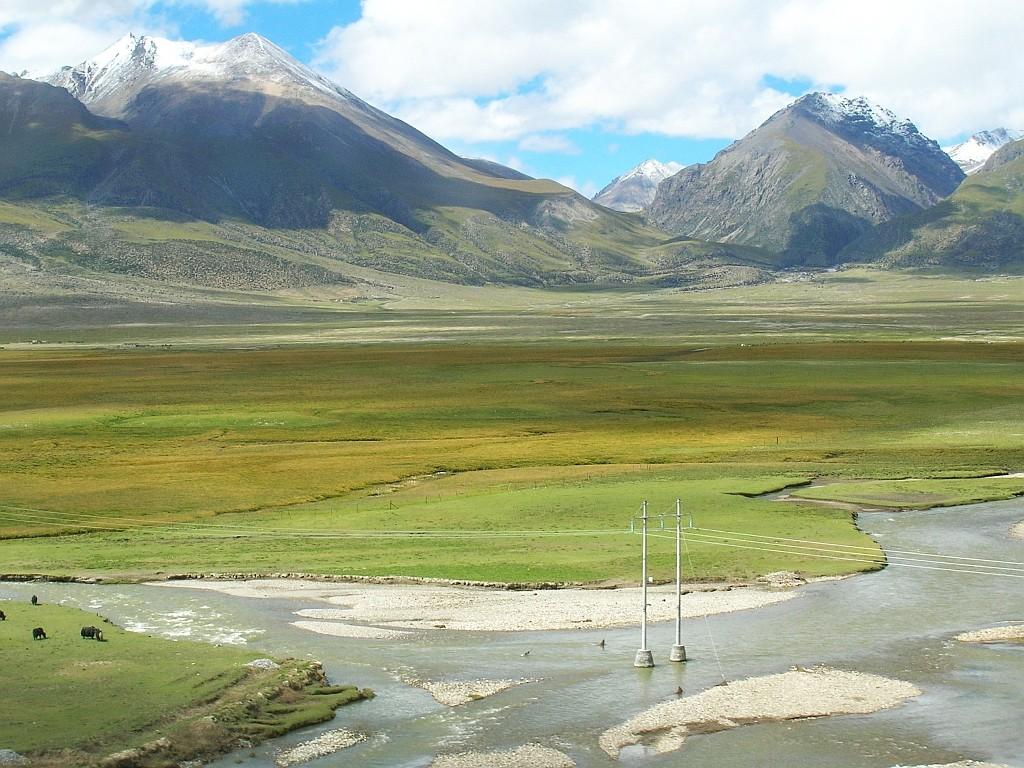 Zdjęcia: trasa kolejowa Golmud - Lhasa, Tybet północno - wschodni, Tybet 20, TYBET
