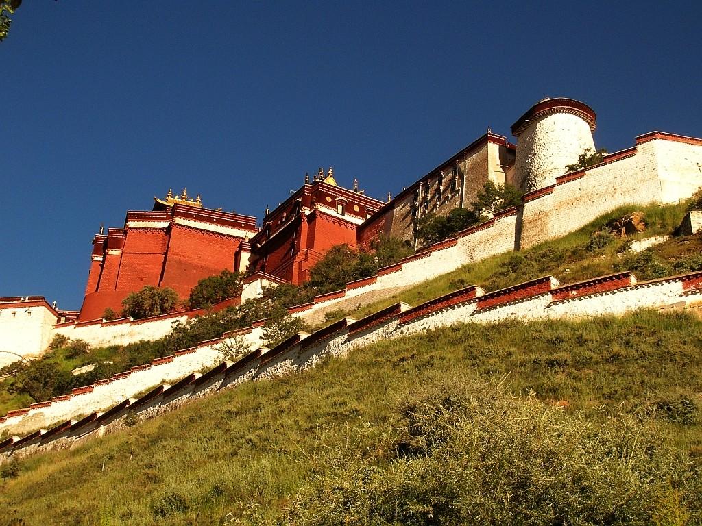 Zdjęcia: Lhasa, Lhasa, Potala Palace od strony północno-zachodniej, TYBET