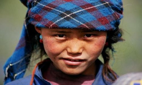 Zdjecie TYBET / Tybet  / Wioska Chang Suo / Tybetanka