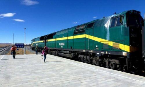 Zdjęcie TYBET / N N / stacja przed Lhasa / Kolej Tybetańśka