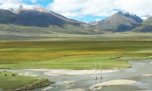 Zdjecie TYBET / Tybet północno - wschodni / trasa kolejowa Golmud - Lhasa / Tybet 20