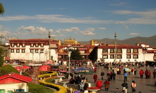 TYBET / Lhasa / Lhasa / świątynia Jokhang