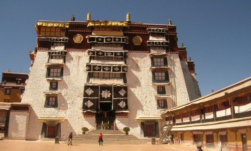 TYBET / Lhasa / Lhasa / Potala palace - Biały Pałac
