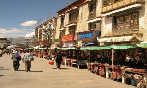 Zdjęcie TYBET / Lhasa / Lhasa / Lhasa - dzielnica tybetańska