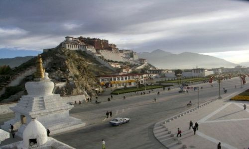 TYBET / Lhasa / j.w / Pałac Potala