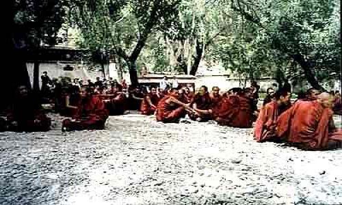 Zdjecie TYBET / brak / brak / Mnisi w Sera Monastery