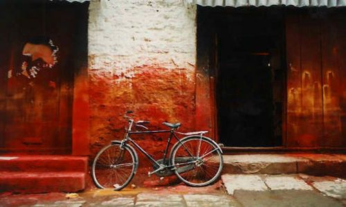 Zdjecie TYBET / brak / Lhasa / stara zabudowa Lhasy