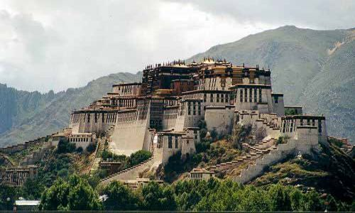TYBET / Tybet Południowy / Lhasa / Pałac Potala