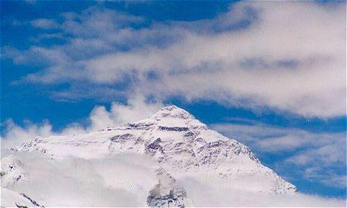 TYBET / Tybet Południowy / Baza po stronie północnej / Everest od strony północnej