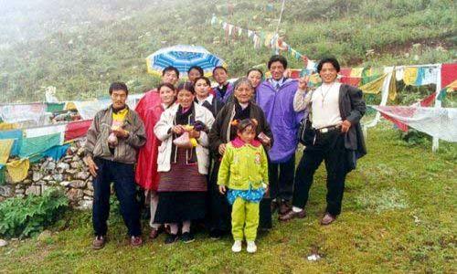 Zdjecie TYBET / Tybet Południowy / Klasztor Ganden / Pielgrzymi