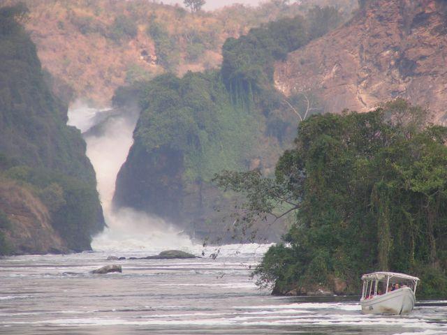 Zdjęcia: Murchison Falls, łódeczka, UGANDA