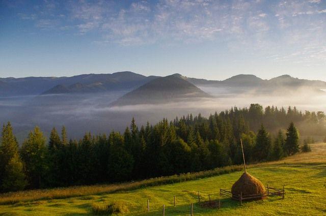 Zdjęcia: Kosaryszcze, Karpaty Wschodnie, Poranek, UKRAINA